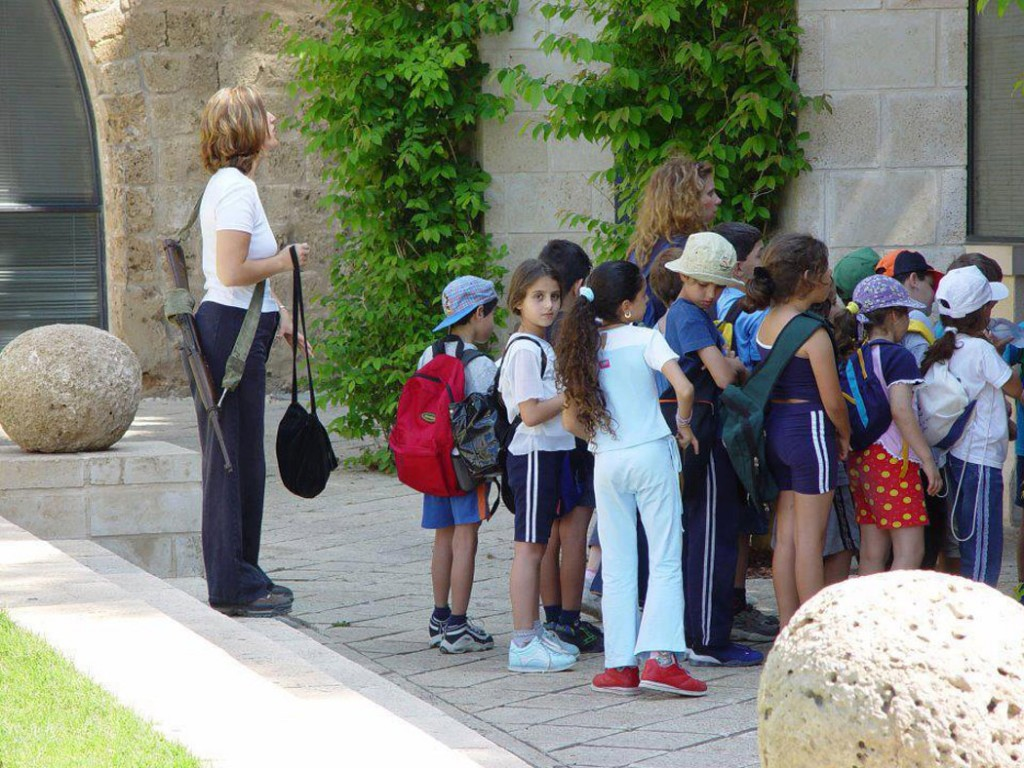 armed guard at an Israeli school