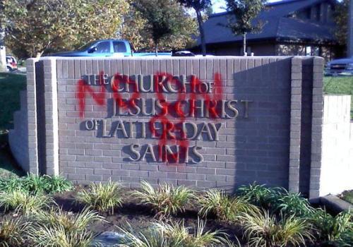 pro-gay-marriage vandalism